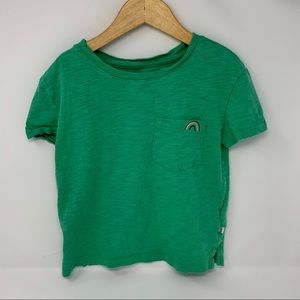 Gap green pocket tee with rainbow size small